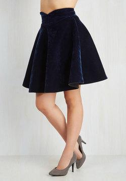 Viva La Velvet Skirt in Sapphire