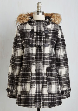 Toasty in Transit Coat in Plaid