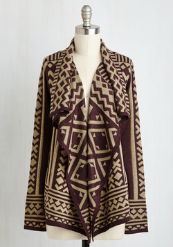 Jetset in Motion Cardigan in Plum