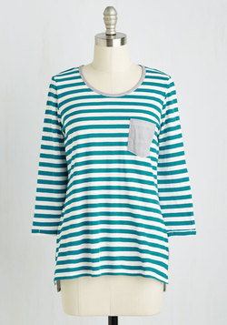 Do the Stripe Thing Top in Teal