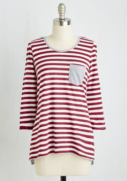 Do the Stripe Thing Top in Raspberry