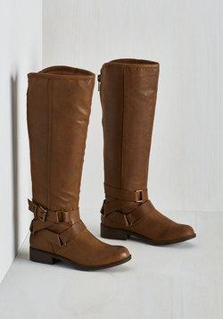 Hello, Good Bayou Boot in Chestnut - Wide Calf