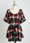 Medium Format Memory Tunic in Black Plaid