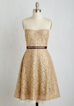 Bedazzle the Crowd Dress in Gold