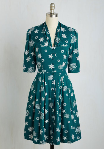 Star Studded Performance Dress in Snowflakes $99.99 AT vintagedancer.com