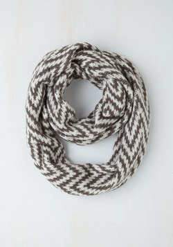 Atop the Metropolis Circle Scarf in Chevron