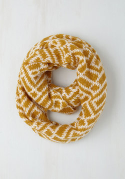 Atop the Metropolis Circle Scarf in Bricks