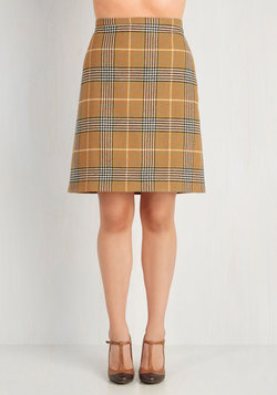 Classic Is in Session Skirt in Mustard