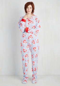 Fauna Friend One-Piece Pajamas in Foxes