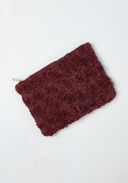 Chic to Chic Clutch in Wine