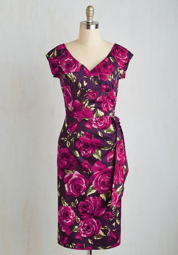 Slice of Layer Cake Dress in Purple $129.99 AT vintagedancer.com