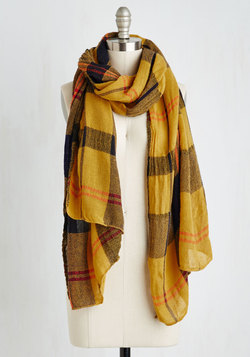 Academic Aspirations Scarf in Yellow