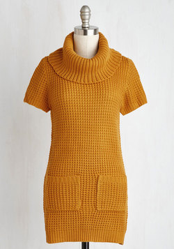 Crepe Expectations Sweater in Goldenrod