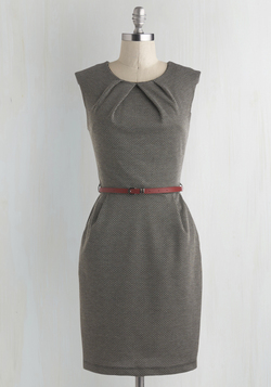 Cross The Byline Dress in Roving Reporter
