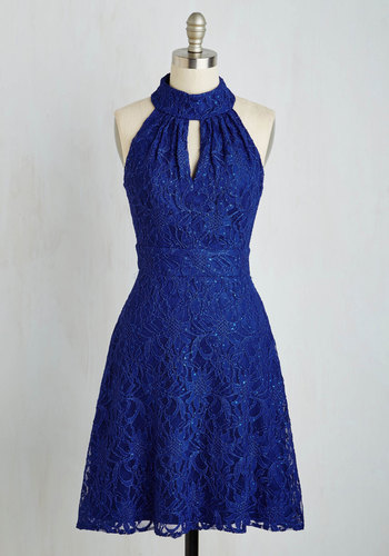 Don't Wait Up Dress - Blue, Prom, Party, Exclusives, Knit, Lace, Solid, Lace, Sleeveless, Wedding, Bridesmaid, Homecoming, Mid-length