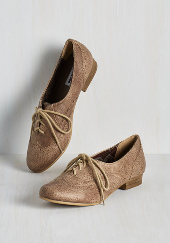 Dapper Days Flat in Cappuccino $39.99 AT vintagedancer.com