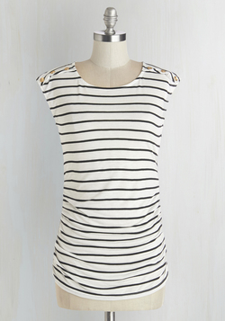 Fluent in Fashion Top in Stripes
