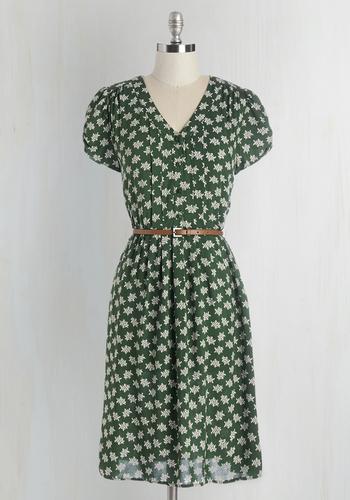 Take to the Wind Dress in Greenery