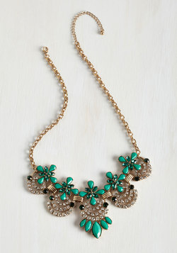 Hit the Town Stunning Necklace in Jade