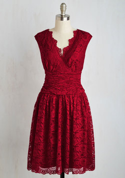 Meet Me at the Arboretum Dress in Ruby