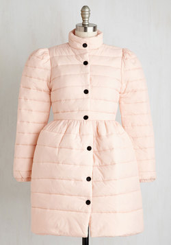 Can't Flurry Love Coat in Blush
