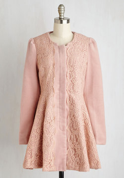Chicago Charm Coat in Blush