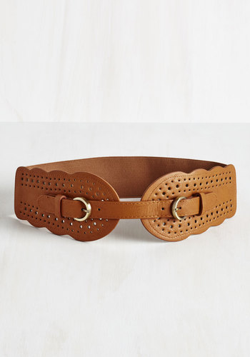 Whatever Floats Your Haute Belt in Cognac $19.99 AT vintagedancer.com