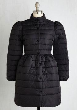 Can't Flurry Love Coat in Black