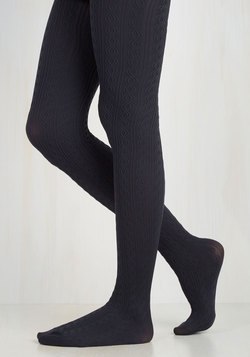 Knit's Warm in Here Tights in Navy
