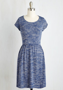 Casual Inclination Dress in Heather Blue