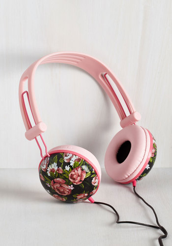 Swoons and Tunes Headphones in Painted Roses