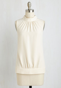 Midtown Magnificence Top in Ivory