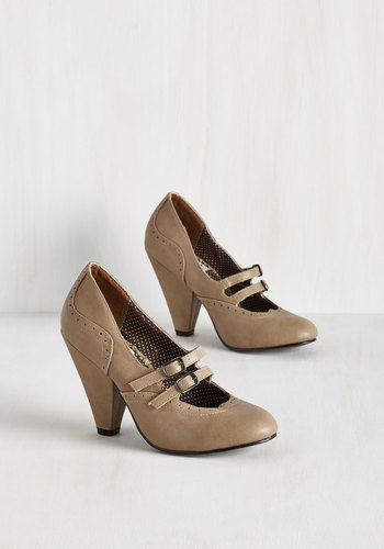 Follow Your Sweetheart Heel in Sand $82.99 AT vintagedancer.com