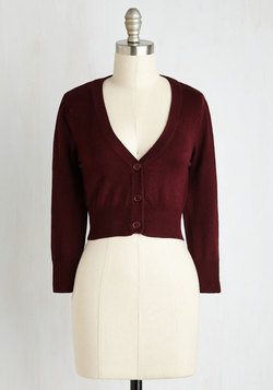 The Dream of the Crop Cardigan in Burgundy