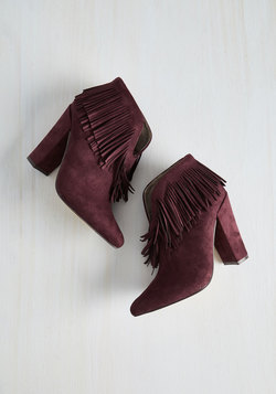 Kick-Me-Up Bootie in Burgundy