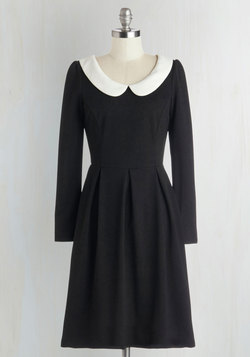 Record Store Date Dress in Black