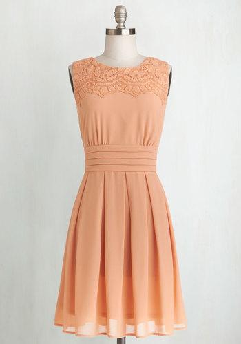 V.I.Pleased Dress in Peach