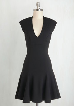 A Dash of Flair Dress in Black
