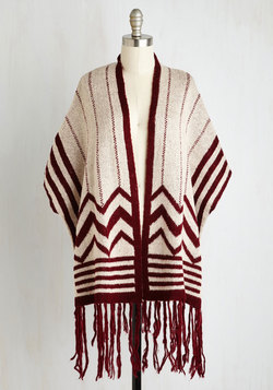 And I'm Chevron Burgundy Cardigan