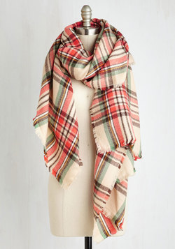 Fall Night Long Scarf in Coral