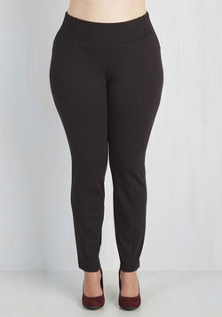 Can You Gig It? Pants in Black - 1X-3X
