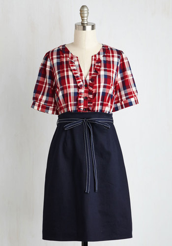 Plaid-urday Night Live Dress