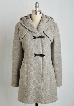 Guten Toggle Coat in Fog