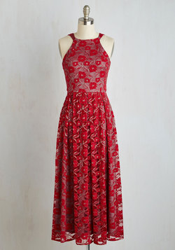 With Style and Lace Dress in Red Blend