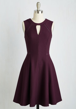 Moxie Must-Have Dress in Plum