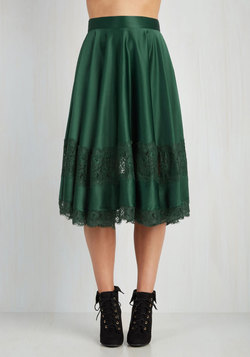My Kind of Twirl Skirt in Emerald
