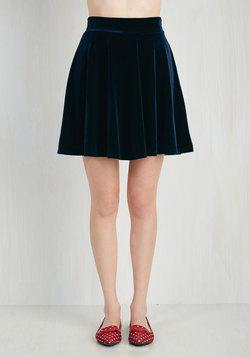 Eternal Echo Skirt in Sapphire