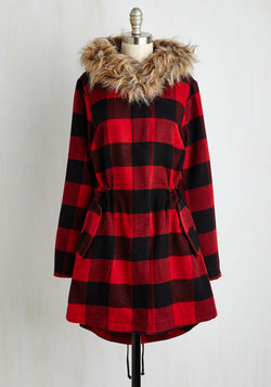 In the Kindling of an Eye Coat in Buffalo Plaid