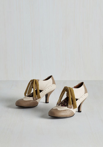 All Demure Reason Heel in Latte $84.99 AT vintagedancer.com