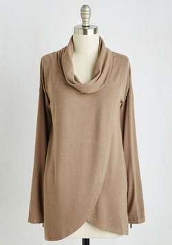 On-time Arrival Top in Khaki